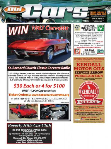 Old Cars Weekly Magazine April 15th, 2021 Issue Cover