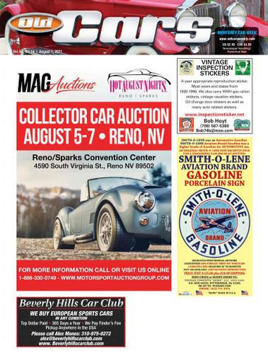 Old Cars Weekly Magazine August 1st, 2021 Issue Cover