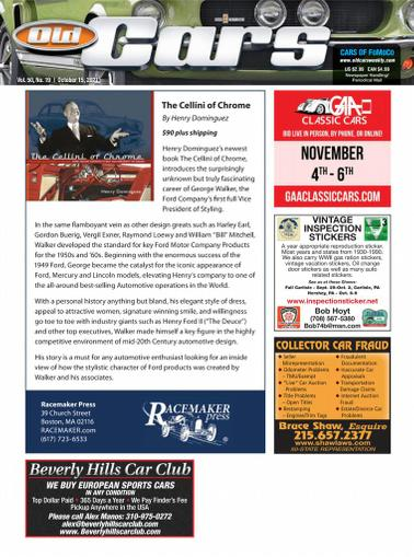 Old Cars Weekly Magazine October 15th, 2021 Issue Cover
