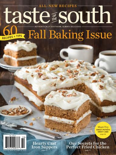 Taste Of The South Magazine October 1st, 2020 Issue Cover