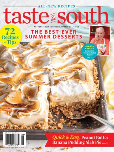 Taste Of The South Magazine July 1st, 2021 Issue Cover