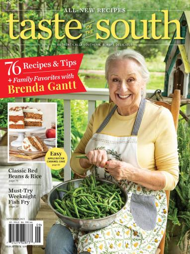 Taste Of The South Magazine September 1st, 2021 Issue Cover