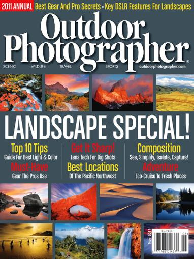 Outdoor Photographer Magazine April 13th, 2011 Issue Cover