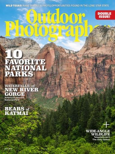 Outdoor Photographer Magazine June 1st, 2021 Issue Cover