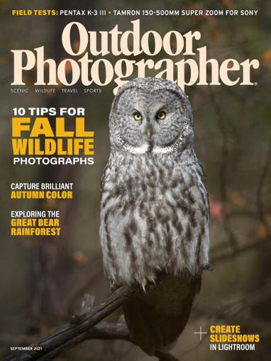 Outdoor Photographer Magazine September 1st, 2021 Issue Cover