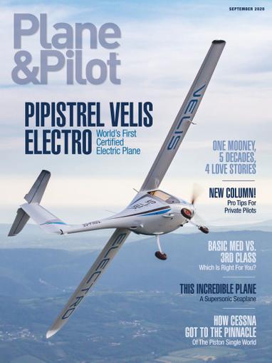 Plane & Pilot Magazine September 1st, 2020 Issue Cover