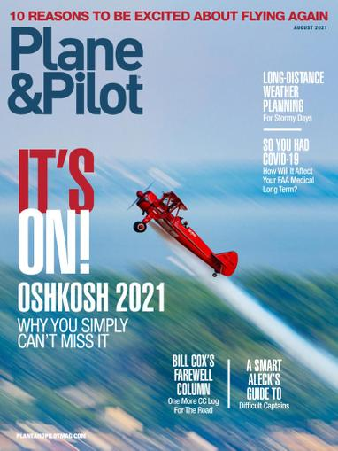 Plane & Pilot Magazine August 1st, 2021 Issue Cover