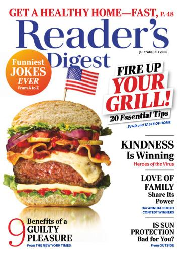 Reader's Digest Magazine July 1st, 2020 Issue Cover