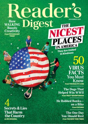 Reader's Digest Magazine November 1st, 2020 Issue Cover