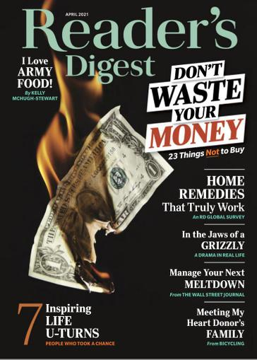 Reader's Digest Magazine April 1st, 2021 Issue Cover