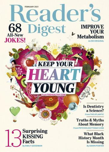 Reader's Digest Magazine February 1st, 2021 Issue Cover