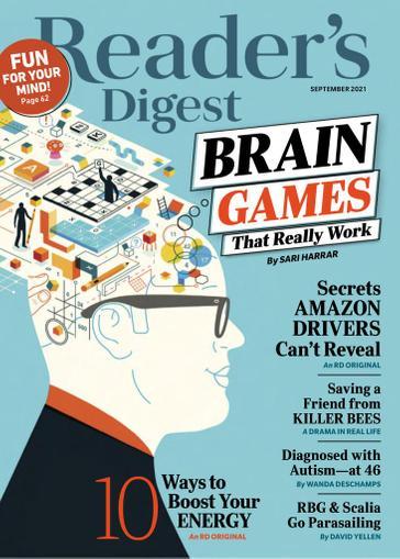Reader's Digest Magazine September 1st, 2021 Issue Cover
