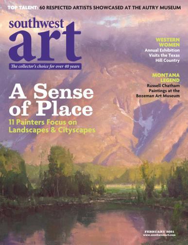 Southwest Art Magazine February 1st, 2021 Issue Cover