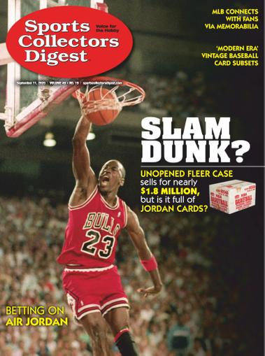 Sports Collectors Digest Magazine September 11th, 2020 Issue Cover