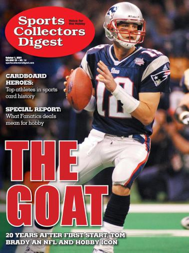 Sports Collectors Digest Magazine October 1st, 2021 Issue Cover