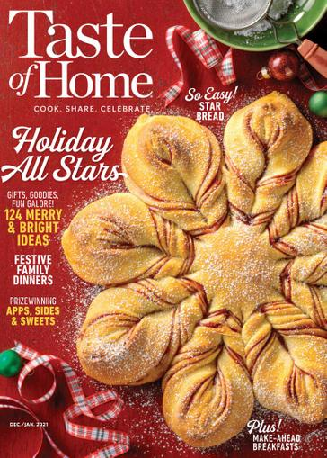 Taste of Home Magazine December 1st, 2020 Issue Cover