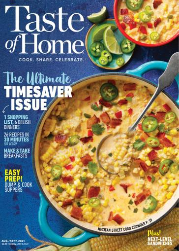 Taste of Home Magazine August 1st, 2021 Issue Cover