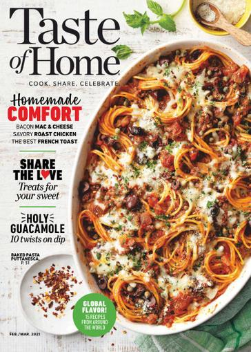 Taste of Home Magazine February 1st, 2021 Issue Cover