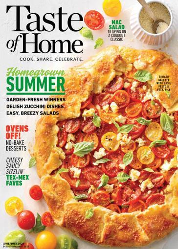 Taste of Home Magazine June 1st, 2021 Issue Cover