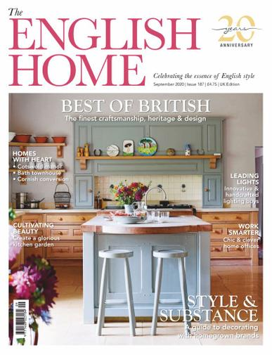 The English Home Magazine September 1st, 2020 Issue Cover