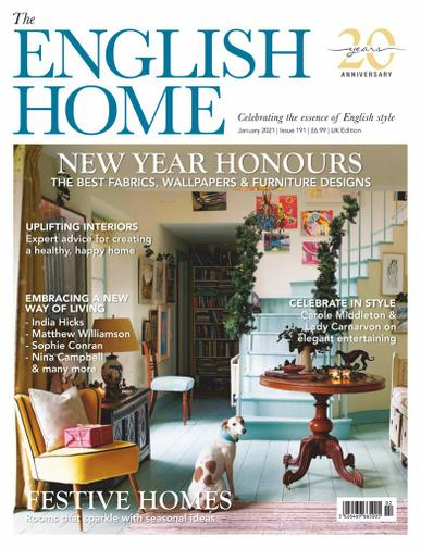 The English Home Magazine January 1st, 2021 Issue Cover