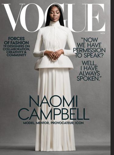Vogue Magazine November 1st, 2020 Issue Cover