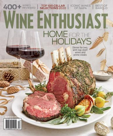 Wine Enthusiast Magazine December 1st, 2020 Issue Cover