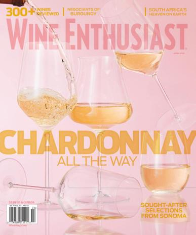 Wine Enthusiast Magazine April 1st, 2021 Issue Cover