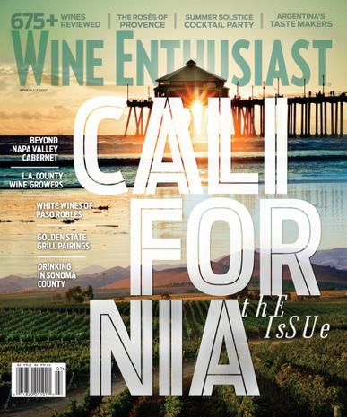 Wine Enthusiast Magazine June 1st, 2021 Issue Cover