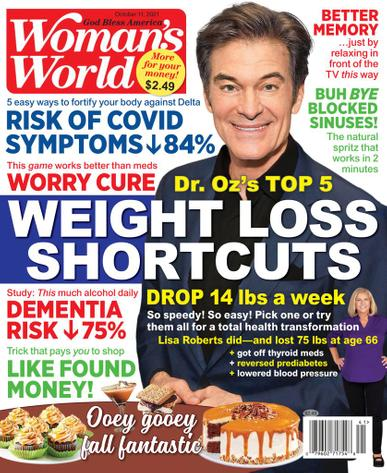 Woman's World Magazine October 11th, 2021 Issue Cover
