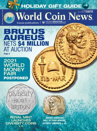 World Coin News Magazine December 1st, 2020 Issue Cover