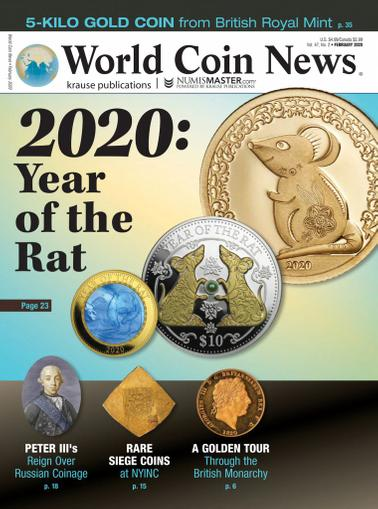 World Coin News Magazine February 1st, 2020 Issue Cover