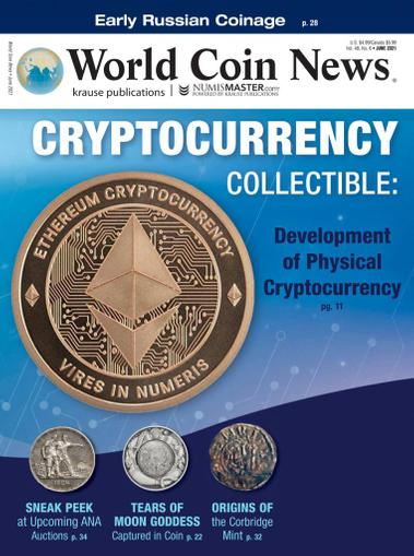 World Coin News Magazine June 1st, 2021 Issue Cover