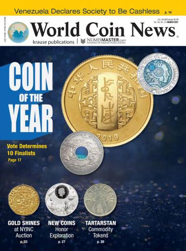 World Coin News Magazine March 1st, 2021 Issue Cover