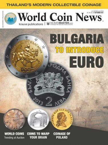 World Coin News Magazine September 1st, 2021 Issue Cover