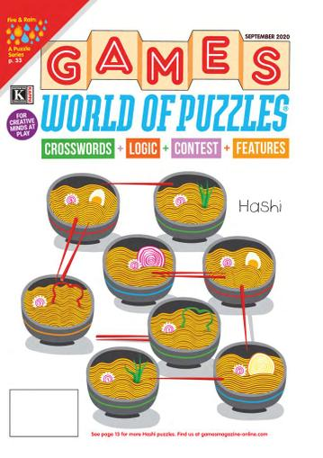 Games World of Puzzles Magazine September 1st, 2020 Issue Cover