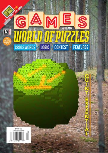 Games World of Puzzles Magazine April 1st, 2021 Issue Cover