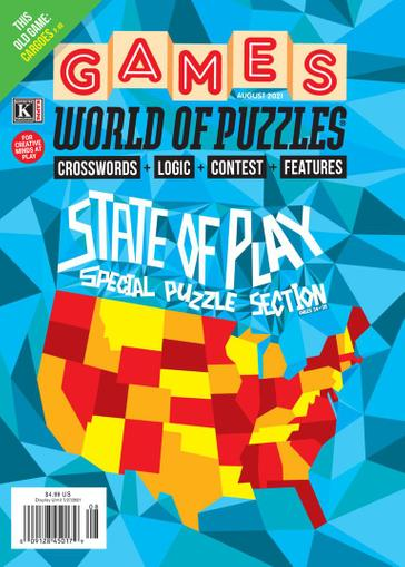 Games World of Puzzles Magazine August 1st, 2021 Issue Cover