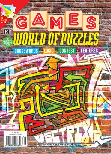 Games World of Puzzles Magazine January 1st, 2021 Issue Cover