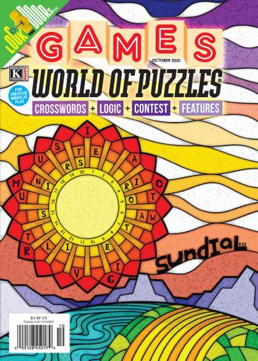 Games World of Puzzles Magazine October 1st, 2021 Issue Cover