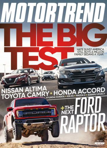 Motor Trend Magazine May 1st, 2021 Issue Cover