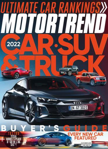 Motor Trend Magazine October 1st, 2021 Issue Cover