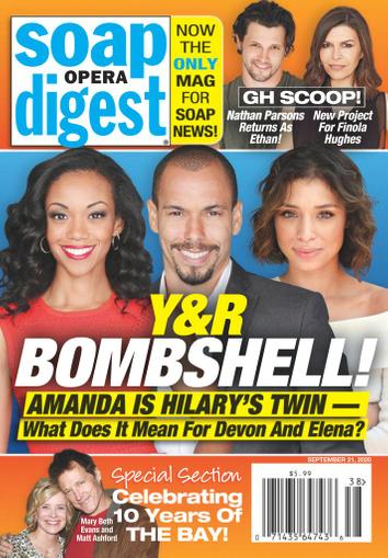 Soap Opera Digest Magazine September 21st, 2020 Issue Cover