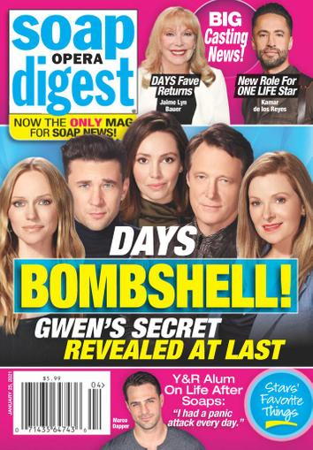 Soap Opera Digest Magazine January 25th, 2021 Issue Cover