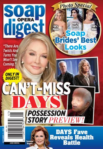 Soap Opera Digest Magazine October 11th, 2021 Issue Cover