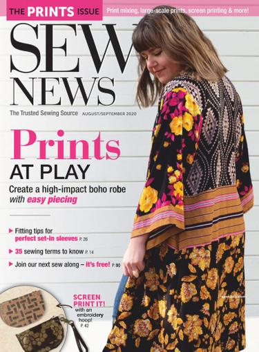 Sew News Magazine August 1st, 2020 Issue Cover