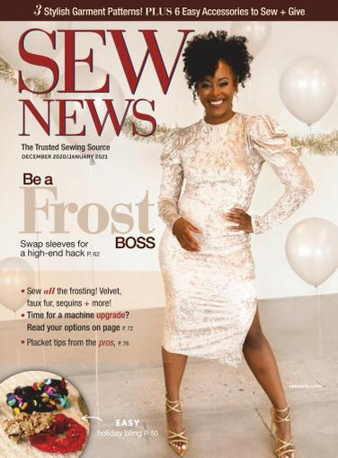 Sew News Magazine December 1st, 2020 Issue Cover