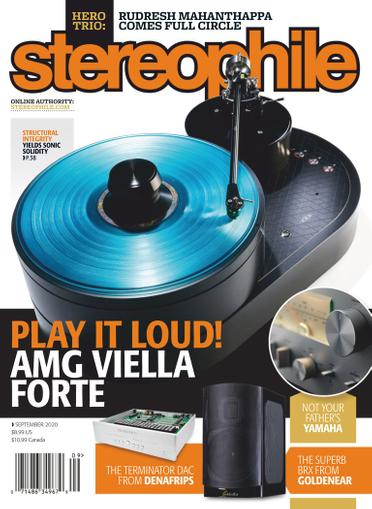 Stereophile Magazine September 1st, 2020 Issue Cover
