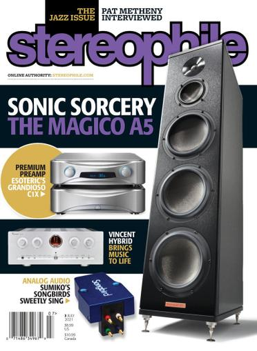 Stereophile Magazine July 1st, 2021 Issue Cover