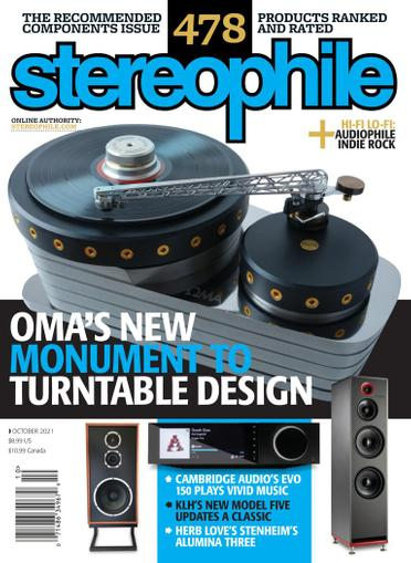 Stereophile Magazine October 1st, 2021 Issue Cover